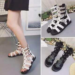 2018 sandals open-toed cross strap sandals female summer flat with Rome shoes