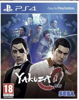 Buying PS4 Yakuza 0 Eng menu and subtitles