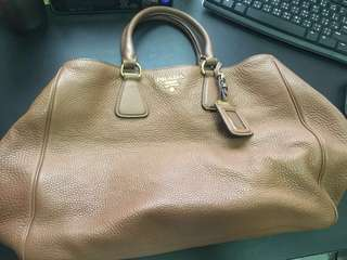 Prada Khaki Leather Bag