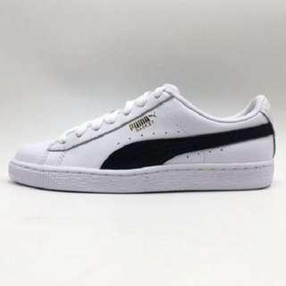 Puma正品(23.5)經典復古白鞋 Basket Classic LFS