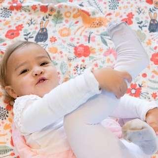 tula cuddle me + baby jolly jaunt blanket