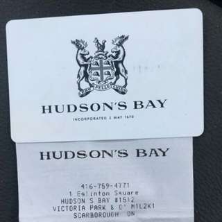 Hudson's Bay/ Home Outfitters Gift Card