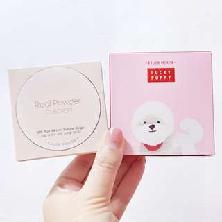 Etude House Lucky Puppy 2018 Cushion Casing & Real Powder Cushion Refill in Natural Beige