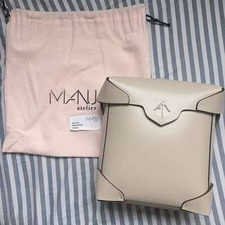 Manu atelier mini pristine bag 袋♥️絕版色 ice beige