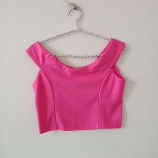 Mini croptee bahan wedges scuba