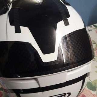 Jaket iz2 dan helmet full face