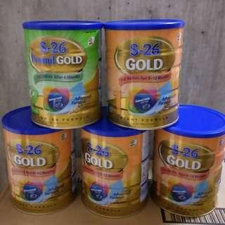 Milk Powder S-26 Gold stage1 0-12mths stage2 6-12mths
