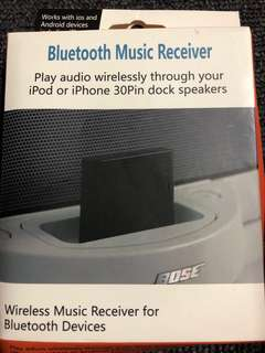 Bluetooth Wireless Music Receiver white 30pin dock speakers
