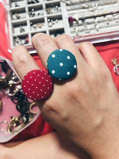 Cloth Button Rings
