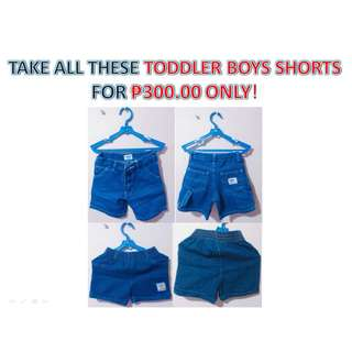 TAKE ALL THESE TODDLER BOYS SHORTS FOR ₱300.00 ONLY! (RUSH SALE!)