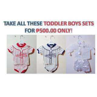 TAKE ALL THESE TODDLER BOYS SETS FOR ₱500.00 ONLY! (RUSH SALE!)
