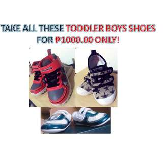 TAKE ALL THESE TODDLER BOYS SHOES FOR ₱1000.00 ONLY! (RUSH SALE!)