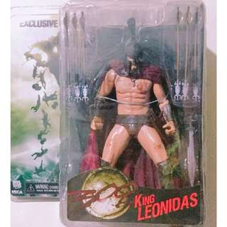 SDCC Exclusive NECA King Leonidas 7 inches scale Action Figure (handmade accessories included)