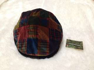 Daks London Flat Hat Tartan Motif