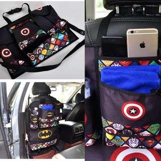 Car seat back protector cum Organizer storage