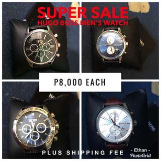 Authentic Hugo Boss Leather Watch