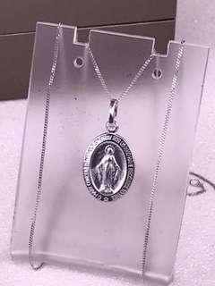 18K Saudi White Gold Necklace