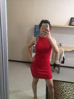 Dress rajut merah