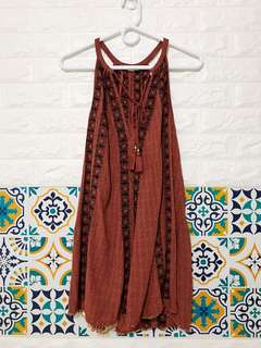 AEO Halter Short Bohemian Dress