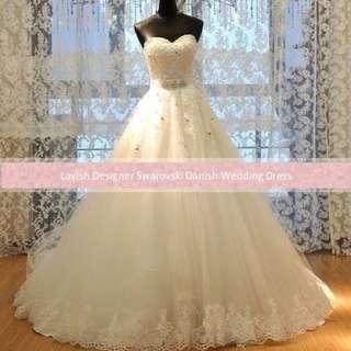 Cheap elegant crystal Wedding Gown For Sale