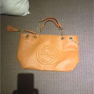 Gucci bag And Belt Tan Gucci Bag
