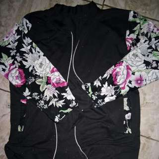 Jaket black flower
