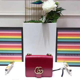 GG Marmont Mini Leather Shoulder bag, red