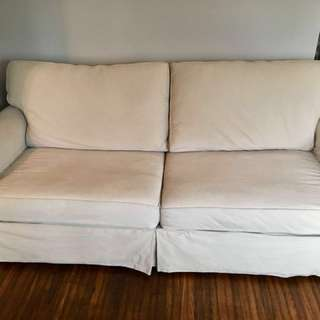 Excellent condition cream sofa