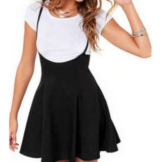 Womens High Waist Suspender Skirt Summer Girls Pleated Skirt  P300.00