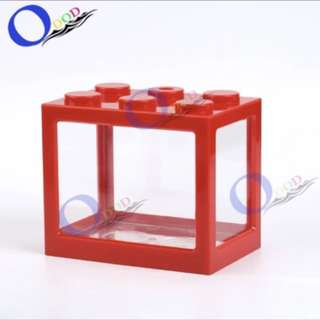 Fighting Fish Tank Stackable Red