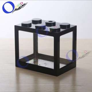 Fighting Fish Tank Stackable Black