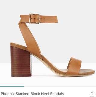Betts tanned block heels