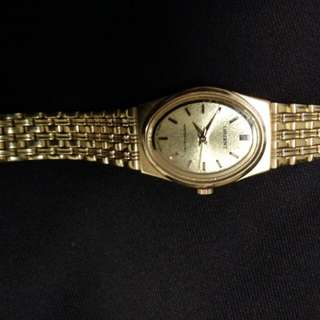 Women watch gold plated