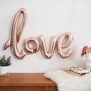 """Love"" Balloon (Rose Gold)"