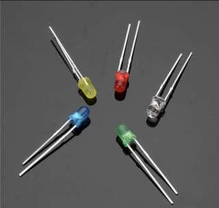 100Pcs 20Ma F3 3MM 5Colors Ultra Bright LED Diode