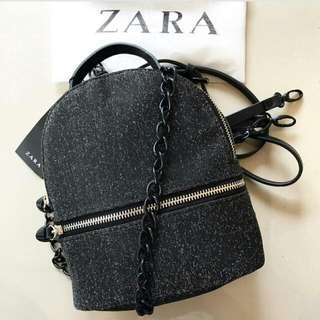 🌺 Zara backpack glitter original