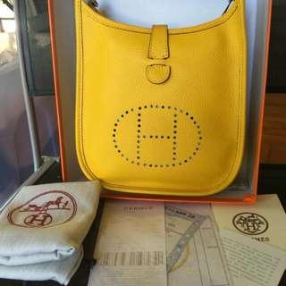 Hermes Evelyn Yellow