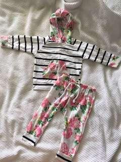 Baby girl tracksuit set