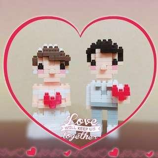 💝大減價‼️(💯全新) 💑結婚禮物首選*西裝新郎&白婚紗新娘LEGO