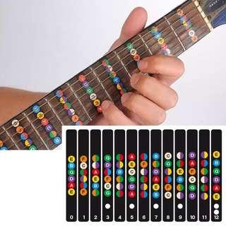 Guitar Fretboard Notes Map Labels Sticker Fingerboard Fret Decals for 6 String Acoustic Electric Guitarra