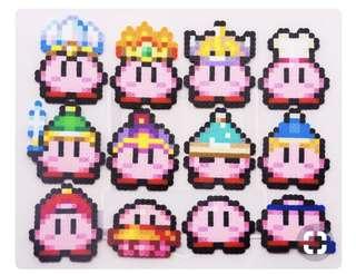 Kirby mini Hama Designs