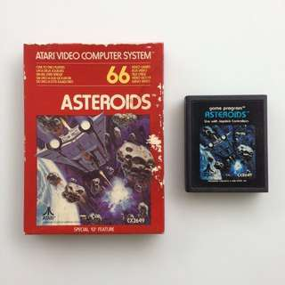 Atari Game Cartridge - Asteroids - With Original Box - Kaset Atari 2600