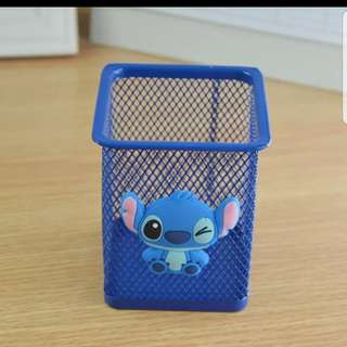 In stock stitch and lilo stationery holder pen holder