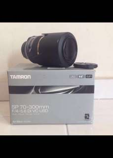 Tamron sp 70-300mm f4-5.6 DI VC USD Nikon mount