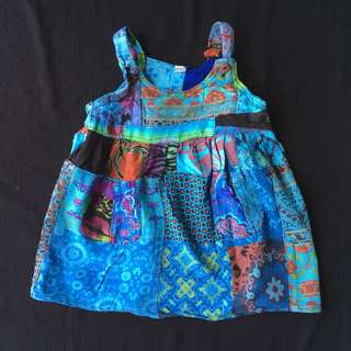 Blue Batik Dress #Bajet20