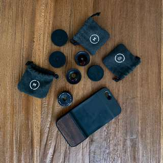 Lensa Moment Lens Wide Tele & Macro + Case for iphone 6