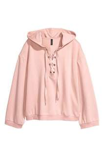H&M sweatshirt with lacing Original HNM