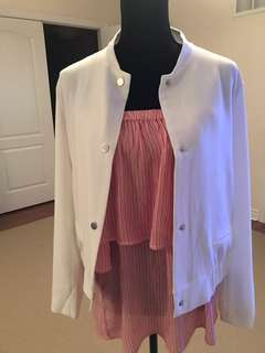 BNWT women's white casual jacket