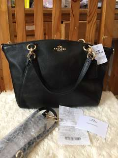 Authentic Coach Small Kelsey Black