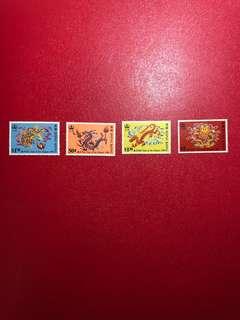 香港郵票-生肖龍年(第二組)